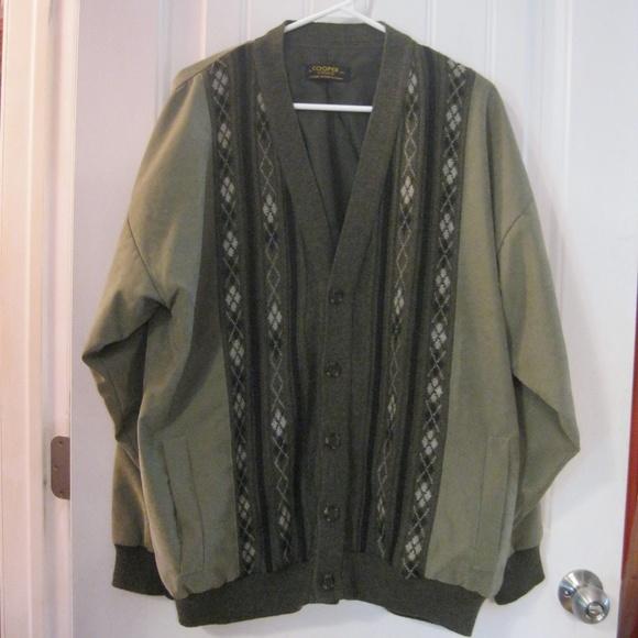 Cooper Knitwear Men's Brush Suede Sweater Jacket
